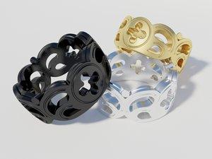 3d model trinity ring