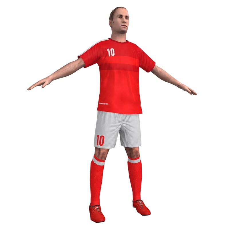 3d soccer player games model