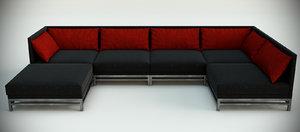 jnl sofa interior 3d model