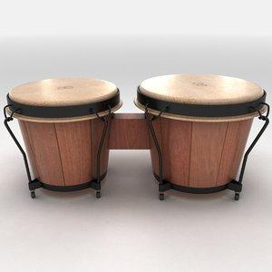 bongo drum 3d model