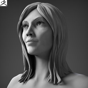 obj realistic nude woman zbrush