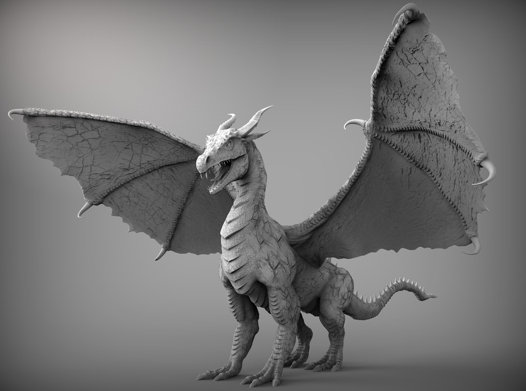 Dragon zbrush ztl 3d model for Mobel 3d download
