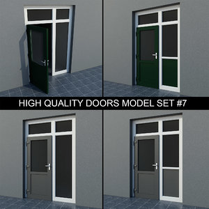set french patio exterior 3d model