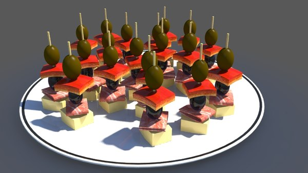 topping food 3d model