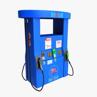 gas pump 3d max
