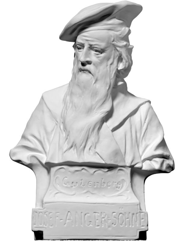 scan bust gutenberg photosculpture 3ds free