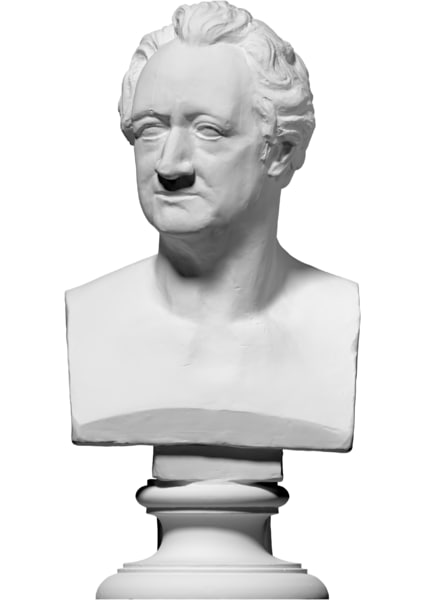 free 3ds model scan bust johann wolfgang