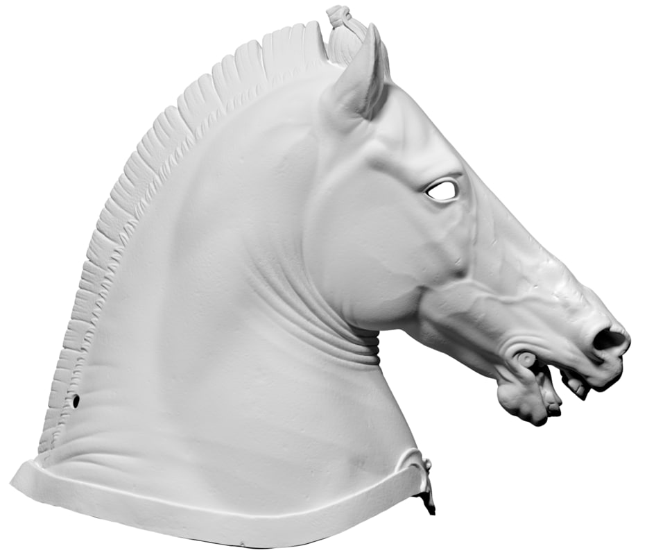 free scan horse head medici 3d model