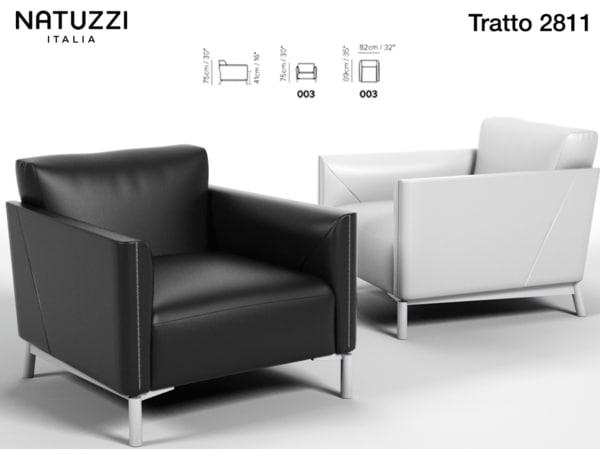 armchair natuzzi sofa 3d 3ds