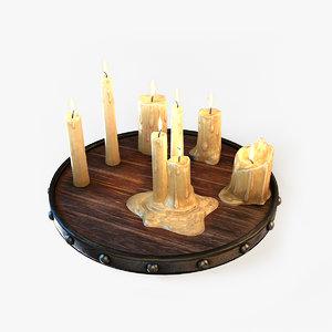 3d candles light