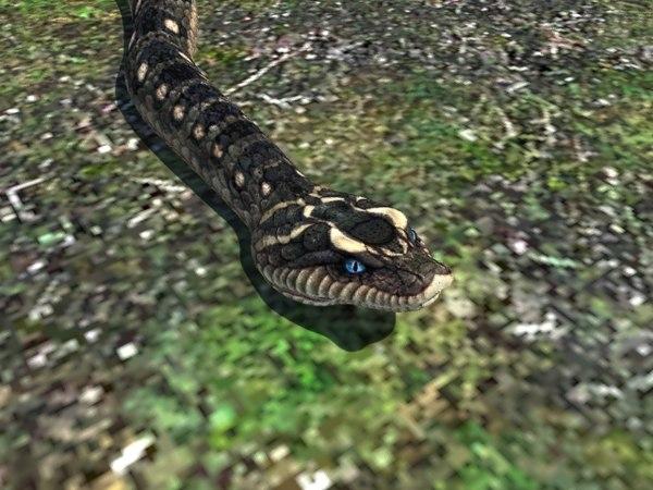 snake reptile 3d model
