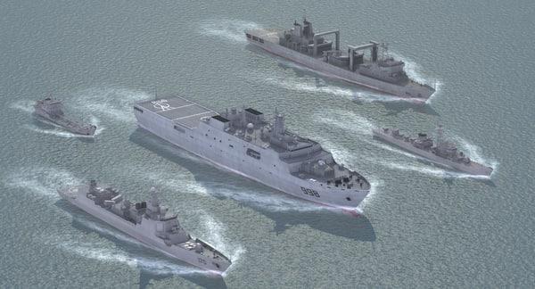3d model chinese navy set02