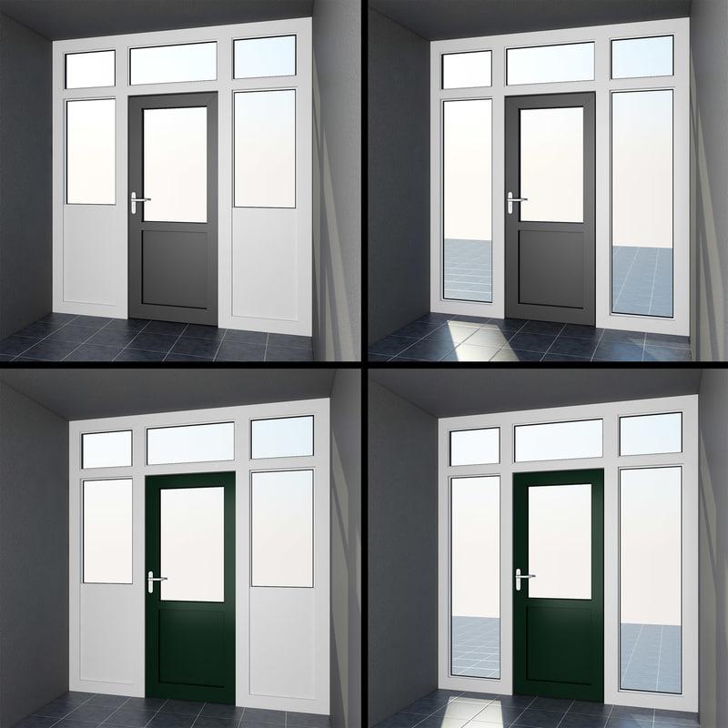 door 8: interior exterior 3ds