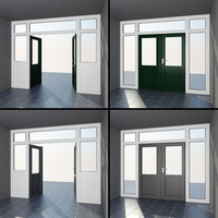 3d french patio doors exterior model