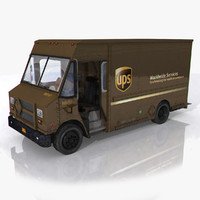 3d model photorealistic post truck