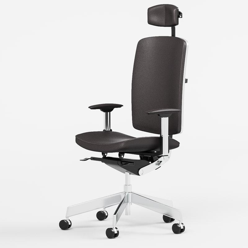 dauphin office chair 3d model