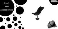 3d chair decoration model