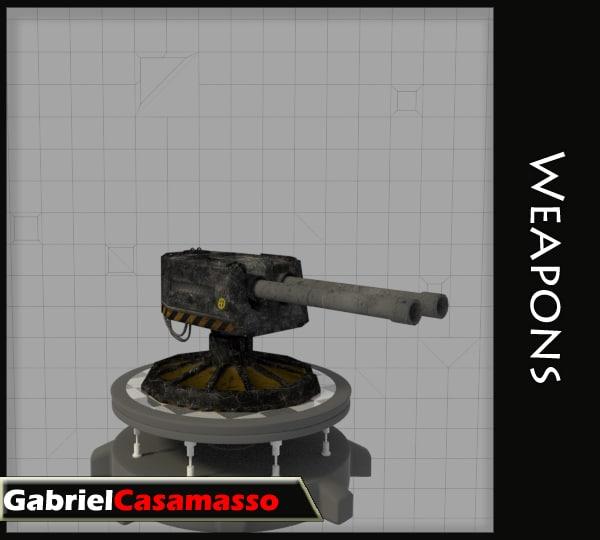sentry turret 3d model