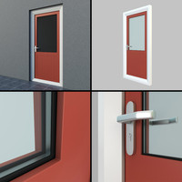 single exterior door settings 3d model
