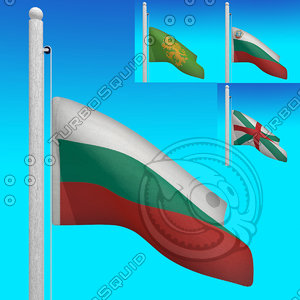 3d model flags bulgaria