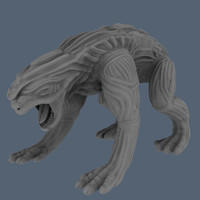 Alien Animal High Poly