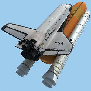 3d model nasa space shuttle columbia