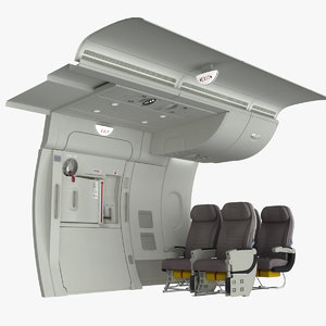 3d emergency exit a380 seat model