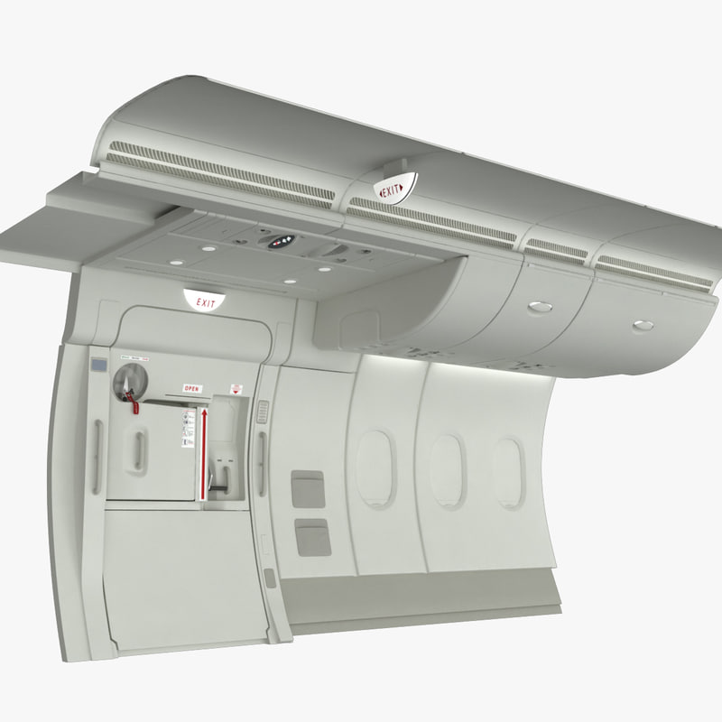 3d emergency exit a380 wall section