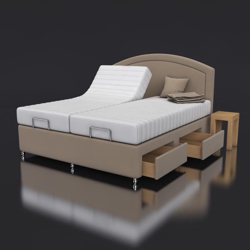 3d model adjustable electrical bed