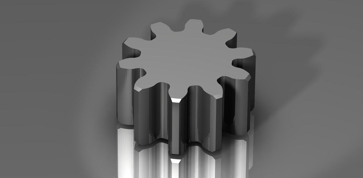 spur gear 48 48p 3d model