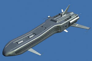 spaceship space ship 3d 3ds