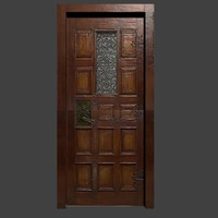 wood door 3d obj