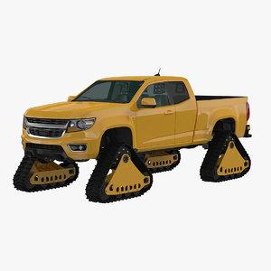 3d tracked pickup model