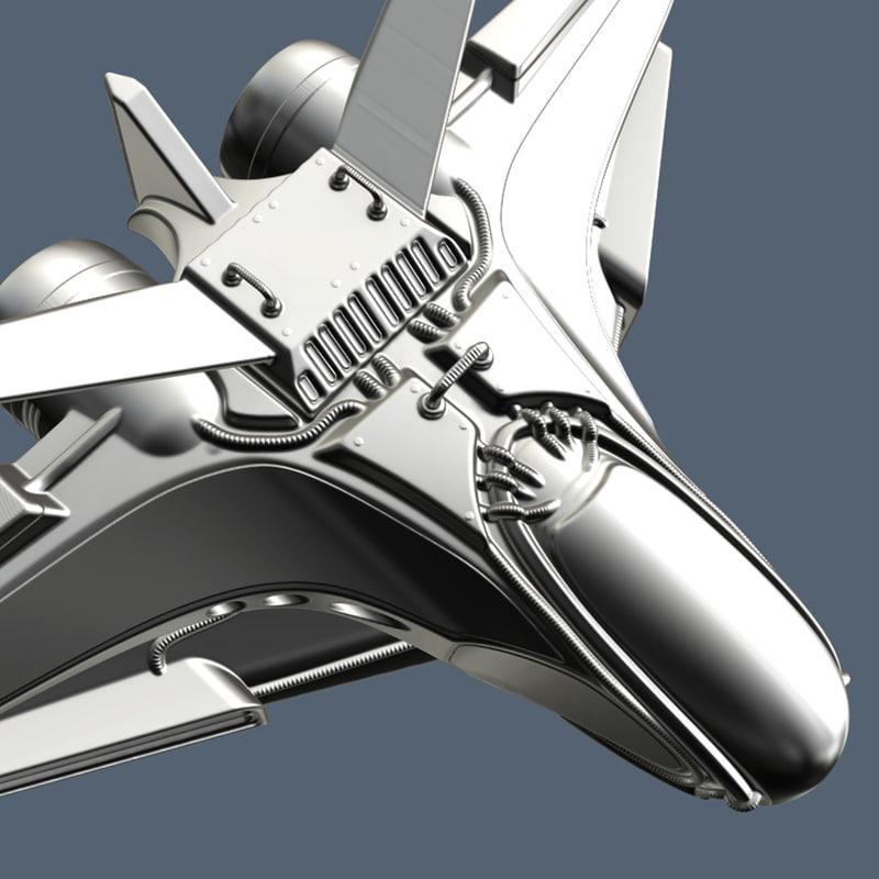 3d intergalactic spaceship