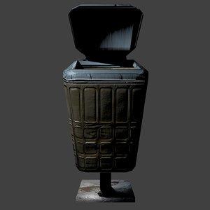 trash bin 3d model