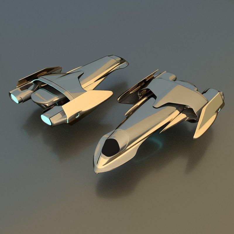 3d obj gunship