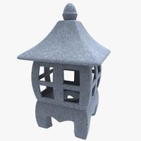 japanese lantern ceramic 3d c4d