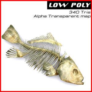 fish skeleton 3d model