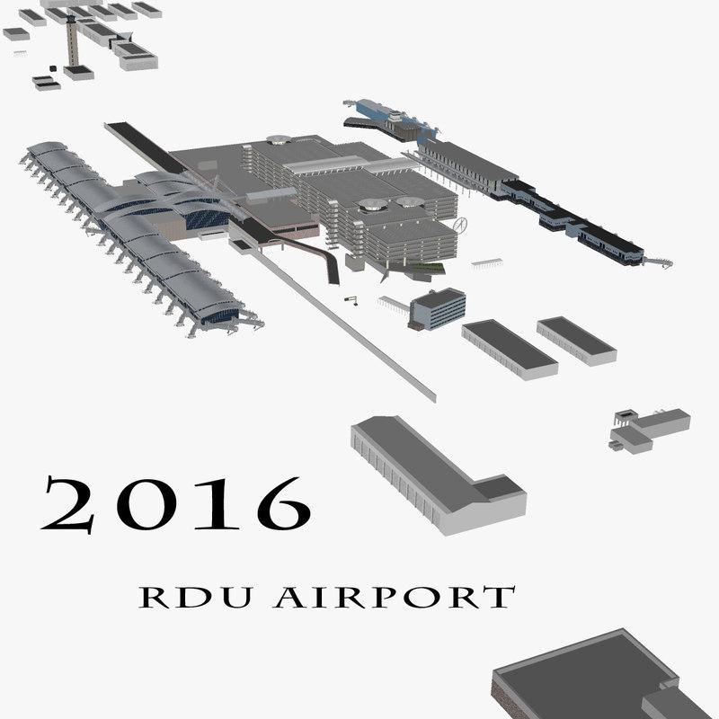 3d rdu airport model