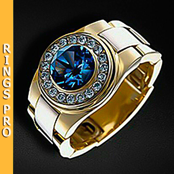 ring gold gem 3d model
