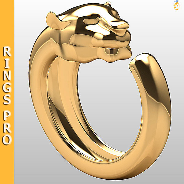 ring gold gem 3dm