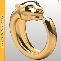 ring gold gem 3dm