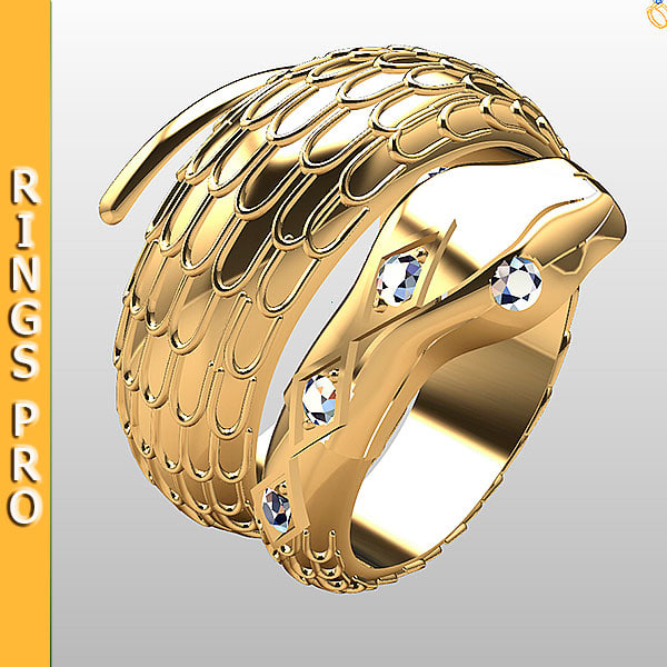 3d ring gold fashion model