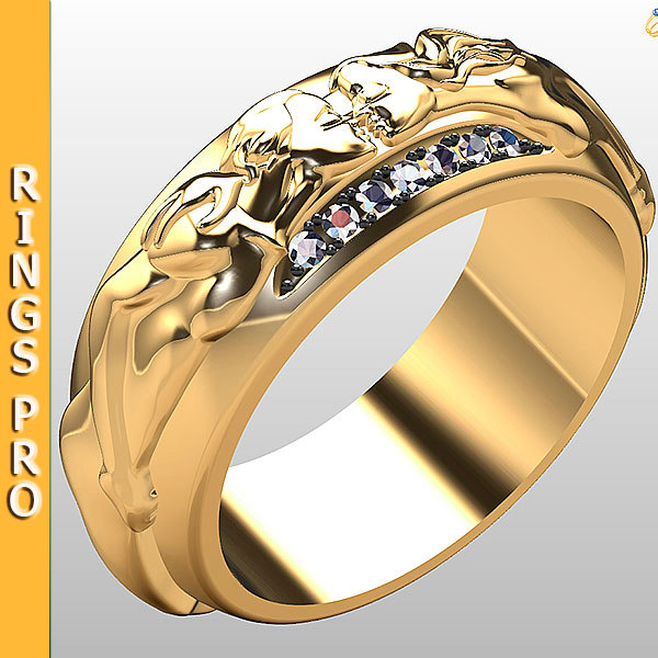 3d model ring gold fashion