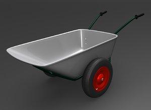 wheelbarrow barrow 3d max