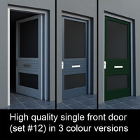 3d max single door settings