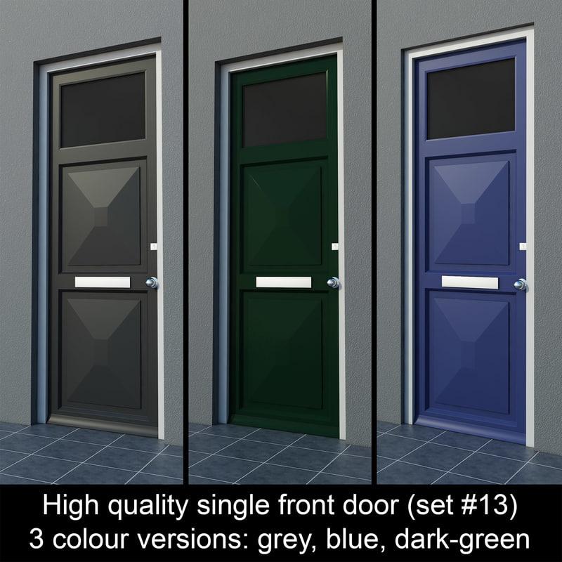 3d single door settings model