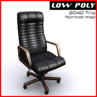 Armchair boss black brown
