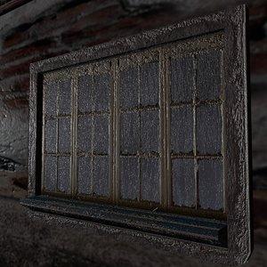 3d model window creepy old