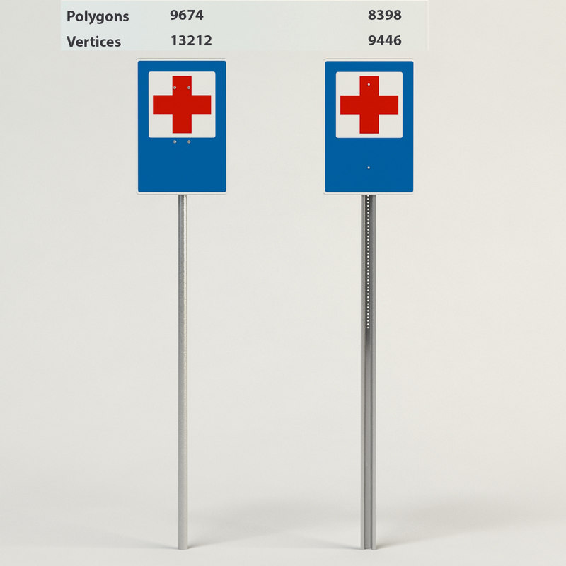 3d aid road sign